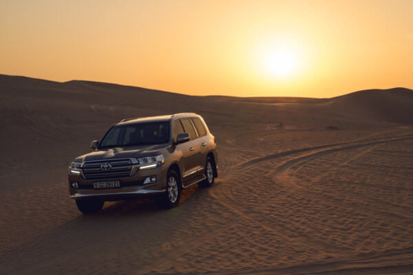 Toyota Land Cruiser Commercial car photography in Dubai.