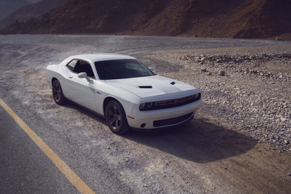 Dodge challenger car photography deser